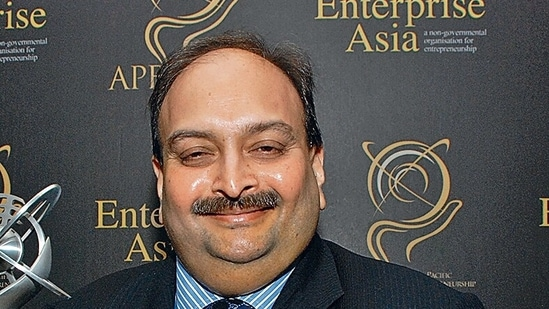 Mehul Choksi is wanted with connection to the <span class='webrupee'>₹</span>13,500 crore loan fraud in Punjab National Bank. (HT Archive)