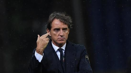 File image of Italy coach Roberto Mancini.(REUTERS)