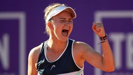 Barbora Krejcikova claimed her first WTA Singles title in Strasbourg. (Twitter)