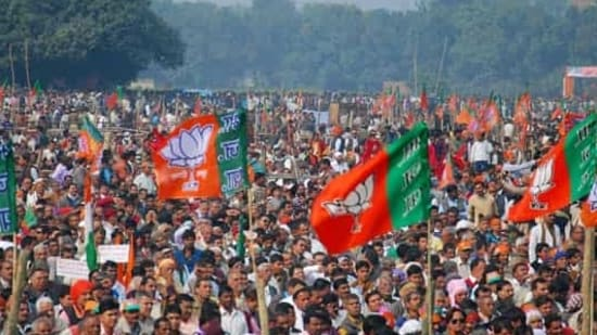 The core theme of these programmes will be 'Democracy being undermined in West Bengal with heinous crimes'.(PTI photo)</em)