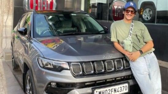 Vijay Varma with latest car, a Jeep Compass.