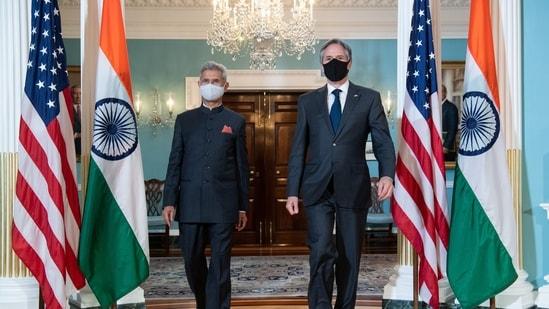 US Secretary of State Antony Blinken (R) and External Affairs Minister Subrahmanyam Jaishankar.(REUTERS)