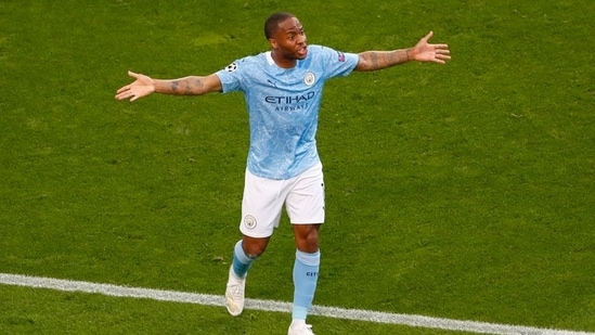 Manchester City's Raheem Sterling reacts.(Pool via REUTERS)