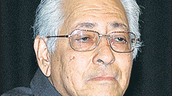 Soli Sorabjee , a recipient of Padma Vibhushan who twice served as Attorney General, passed away due to Covid-19 on April 30. (HT PHOTO.)
