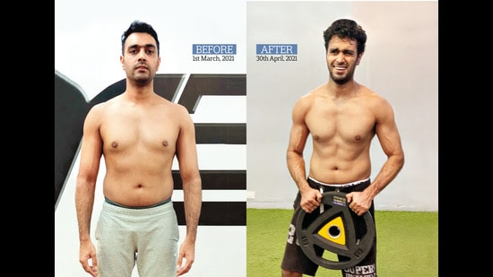 The 39-year-old author had announced his fitness challenge online and achieved abs at the end of it