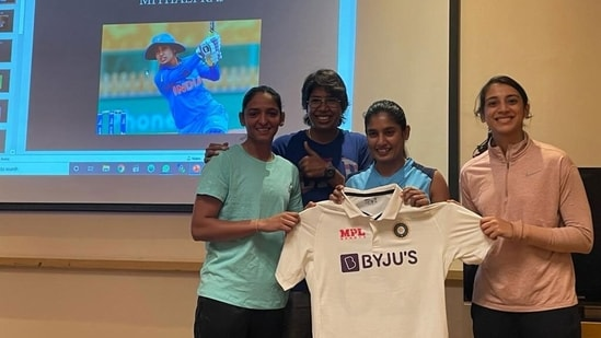 Say hello the brand new Test jersey of the Indian women's cricket team. (BCCI)