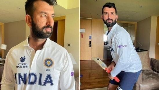 Cheteshwar Pujara shares photo of India's jersey for WTC final(Instagram / Cheteshwar Pujara)