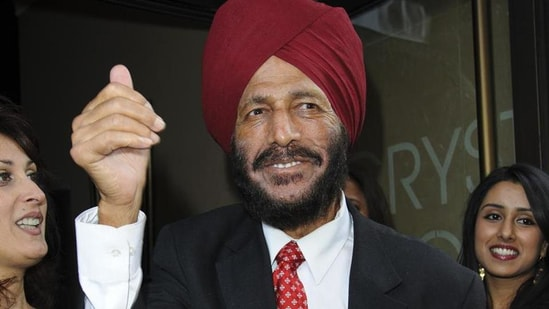 Milkha Singh is recovering well. (HT File Photo)
