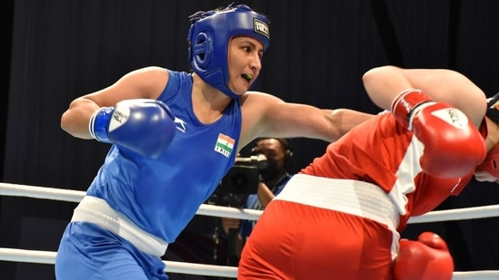 Pooja Rani clinched India's first gold medal at the 2021 Asian Boxing Championships. (BFI)