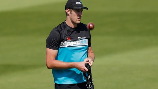 New Zealand's Kyle Jamieson during training at the Lord's Cricket Ground.(Action Images via Reuters)