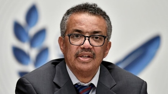 """""""The one recommendation that I believe will do most to strengthen both WHO and global health security is the recommendation for a treaty on pandemic preparedness and response,"""" WHO Director-General Tedros Adhanom Ghebreyesus said.(Reuters)"""