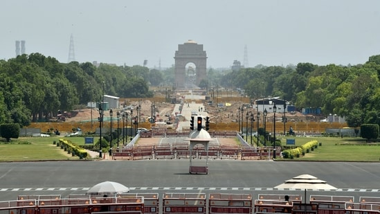 A deserted view of Vijay Chowk after the Delhi government lockdown to limit the spread of the coronavirus disease in New Delhi. (File photo)