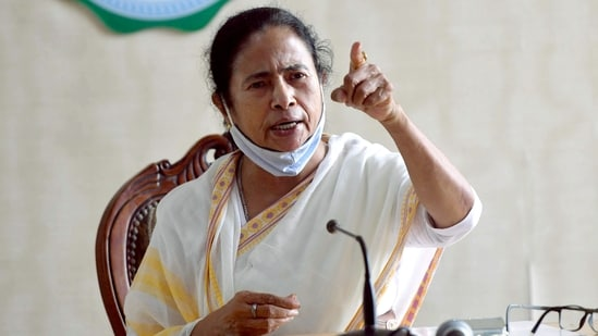 West Bengal chief minister Mamata Banerjee wrote to PM Modi over the state chief secretary's removal on Monday.(ANI)