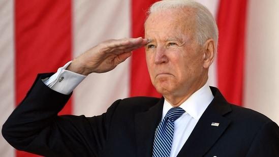 Joe Biden commemorates war dead at Arlington National Cemetery on Memorial  Day | World News - Hindustan Times