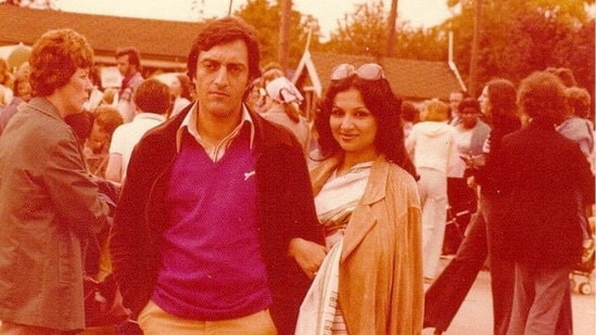 Sharmila Tagore and Mansoor Ali Khan Pataudi in a picture clicked abroad.