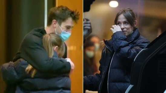 Pat Cummins reunites with his partner Becky after completing 14-day quarantine in Sydney(HT Collage)