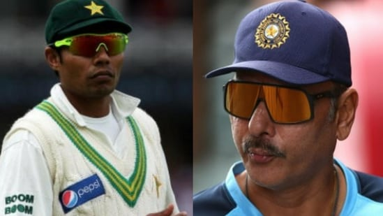 File Photos of Danish Kaneria (left) and Ravi Shastri (right)(HT Collage)