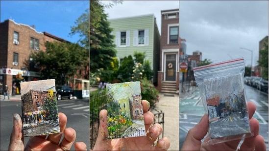 Treasure hunt for miniature artworks on New York's streets grip art lovers(Instagram/stevewasterval)