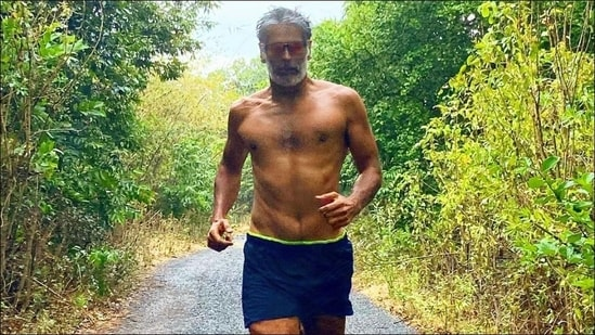 Milind Soman running in the rain is all the fitness motivation we need this Monday(Instagram/milindrunning)