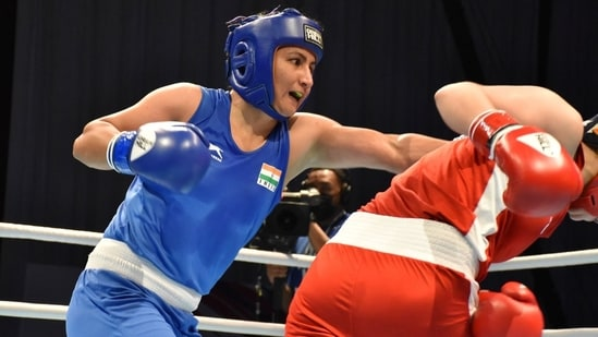 Pooja Rani clinched India's first gold medal at the 2021 Asian Boxing Championships.(BFI)