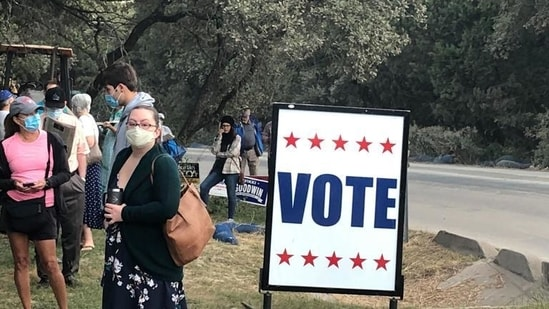 Texas is the last big battleground in Republicans' campaign to tighten voting laws, driven by former President Donald Trump's false claims that the 2020 election was stolen from him.(via AP. Representative image)