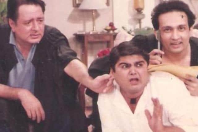 Navin Nischol, Shekhar Suman and Deven Bhojani in Dekh Bhai Dekh.