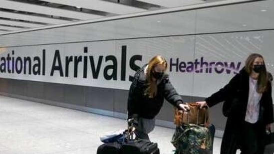 Travellers arrive at Heathrow Airport in London (File Photo/AP).