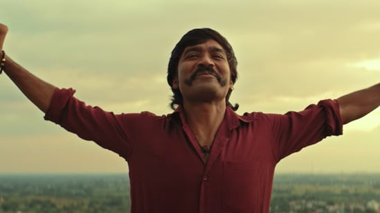 Dhanush in a still from Jagame Thandhiram.