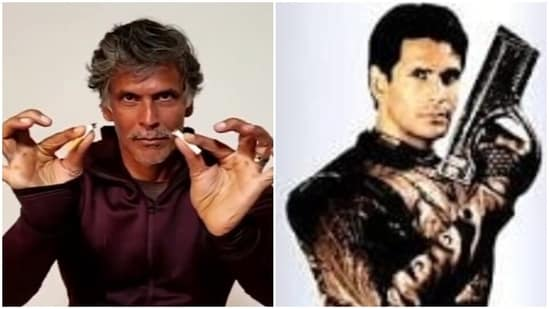 Milind Soman said that he started smoking on the sets of Captain Vyom.