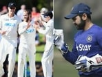 File Photos of Parthiv Patel (left) and the New Zealand cricket team. (HT Collage)