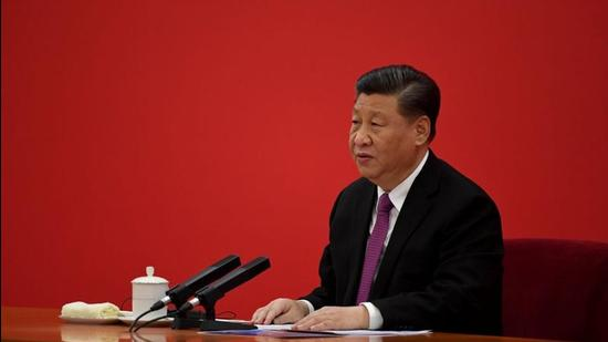 China's President Xi Jinping at the Great Hall of the People in Beijing. (REUTERS)