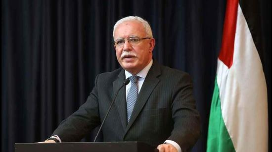 Palestine's concerns were conveyed by foreign minister Riad Malki in a letter sent to his Indian counterpart S Jaishankar on May 30. (PHOTO: Palestine's Ministry of Foreign Affairs and Expatriates.)