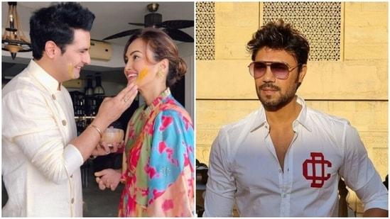Actor couple Karan Mehra-Nisha Rawal and Gaurav Chopraa.