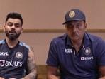 Virat Kohli and Ravi Shastri(BCCI)