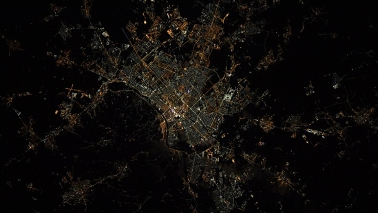 The image shows the Italian city Turin taken from the International Space Station,(Twitter/@astro_kimbrough)
