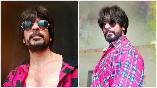 Ibrahim Qadri has been sharing pictures of himself in Shah Rukh Khan's look.