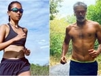 Ankita Konwar enjoys a run under magnificent sky, Milind Soman calls her fit(Instagra/@ankita_earthy, Instagram/milindrunning)