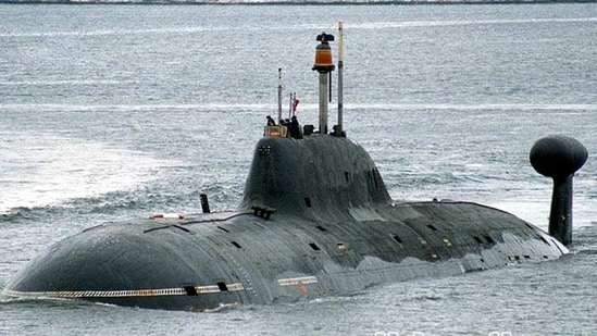 India's sole nuclear powered attack submarine INS Chakra, which is on lease from Russia. (Wikimedia Commons/Ilya Kurganov)