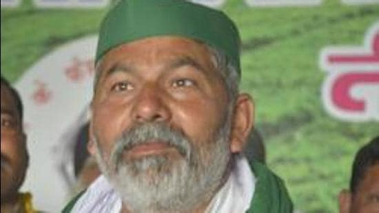 BKU leader Rakesh Tikait. (HT file)