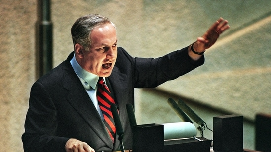 Israel's longest-serving prime minister Benjamin Netanyahu.(AFP)