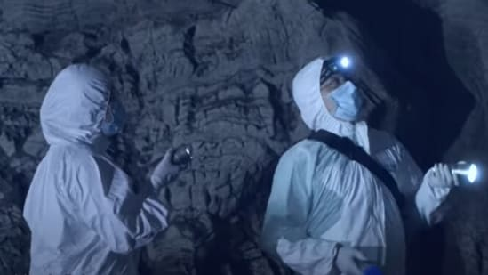The video titled 'Youth In the Wild - Invisible Defender' shows researchers scaling cavern walls in search of unknown viruses.(YouTube screengrab)