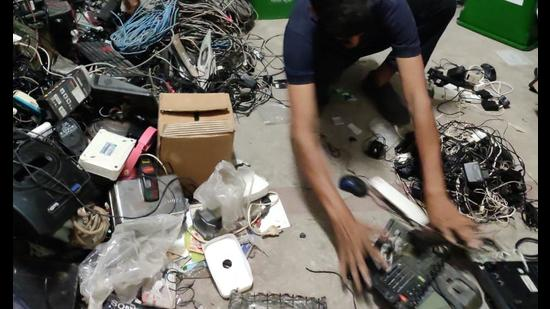 Students from various colleges of Delhi University are engaging in clean up drives, reusing e-waste and disposing off medical waste, to keep the environment clean.