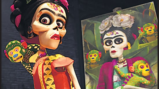 Unlike a Google search, Flim,ai's engine can source film stills by theme, colour scheme, the number of people in the frame, and yes, an art-related scene like Mexican artist Frida Kahlo's 'cameo' in the 2017 film Coco. (Image courtesy Pixar)