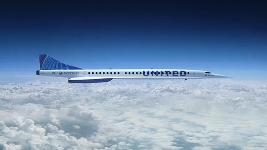 Under the agreement, United Airlines will purchase 15 'Overture' airliners, a supersonic aircraft with 65 to 88 seats.(United Airlines)