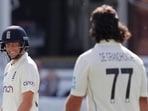 Joe Root (left) and Colin de Grandhomme in action at the Lord's(Twitter)