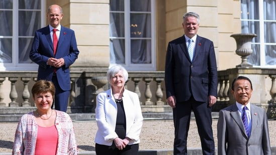 The meeting of finance ministers came ahead of an annual summit of G-7 leaders scheduled for June 11-13 in Cornwall, England.(Bloomberg)