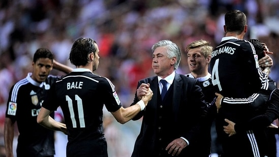 FILE PHOTO of Carlo Ancelotti and Gareth Bale at Real Madrid.(Twitter)