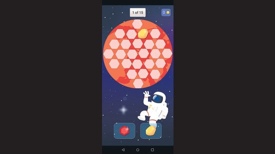 A still from Treasure Hunt, one of the five games on the Brain Explorer app.
