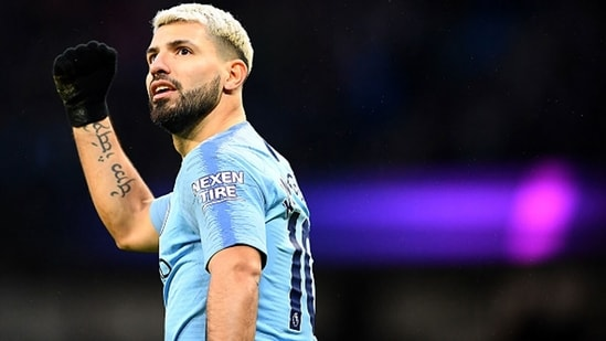 Sergio Aguero brought an end to his 10-year-old stay at the Etihad. (Getty Images)