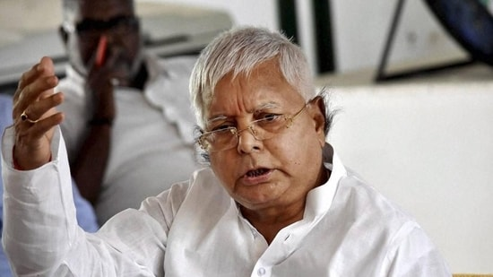 Bihar former chief minister Lalu Prasad Yadav hit out at the Nitish Kumar led-state government over Bihar's ranking in the Niti Aayog Sustainable Development Goals (SDG) index 2020-21.(PTI)